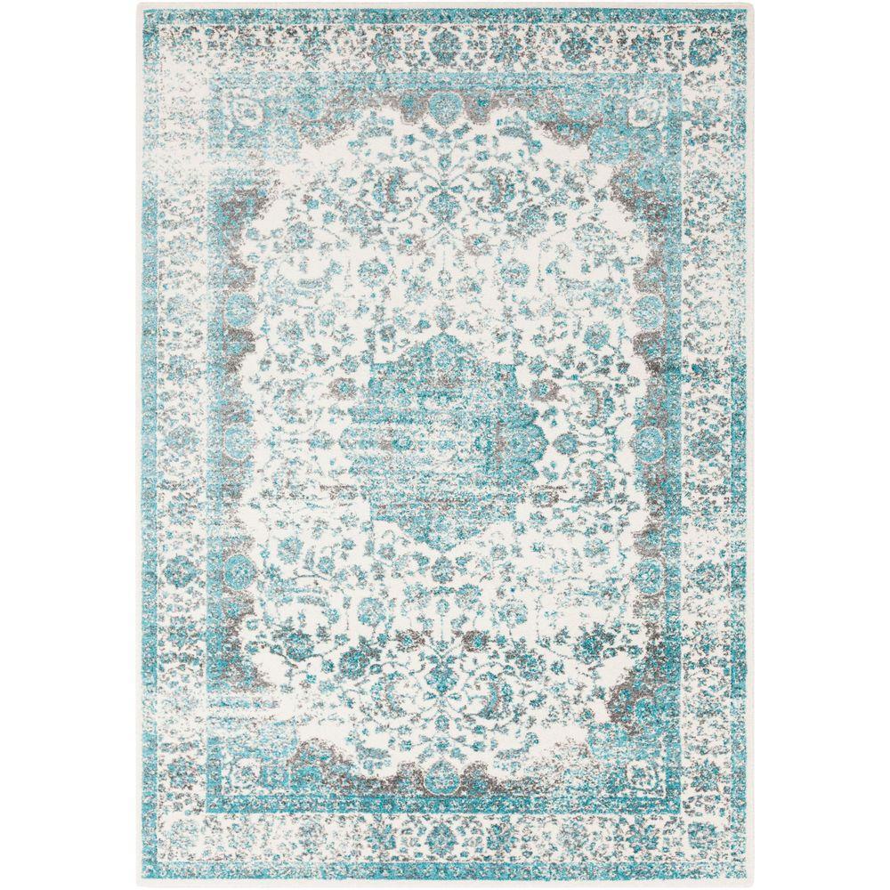 Alain Teal (Blue) 5 ft. x 8 ft. Indoor Area Rug