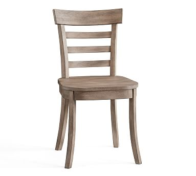 Liam Dining Side Chair, Weathered Gray