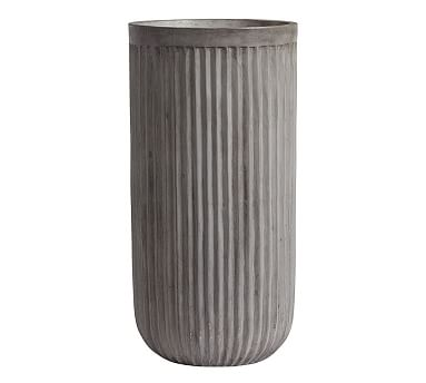 Concrete Fluted Planter, Tall