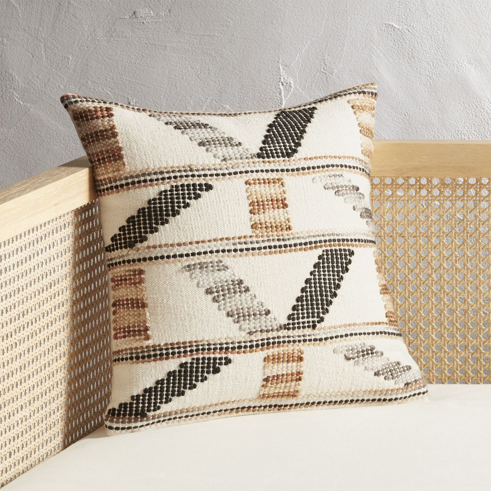 "16"" Dorado Handwoven Pillow with Down-Alternative Insert"