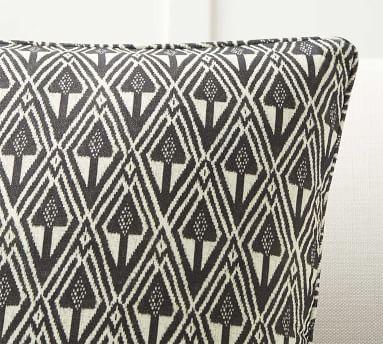 "Mitzi Print Pillow Cover, Charcoal Multi, 20"""