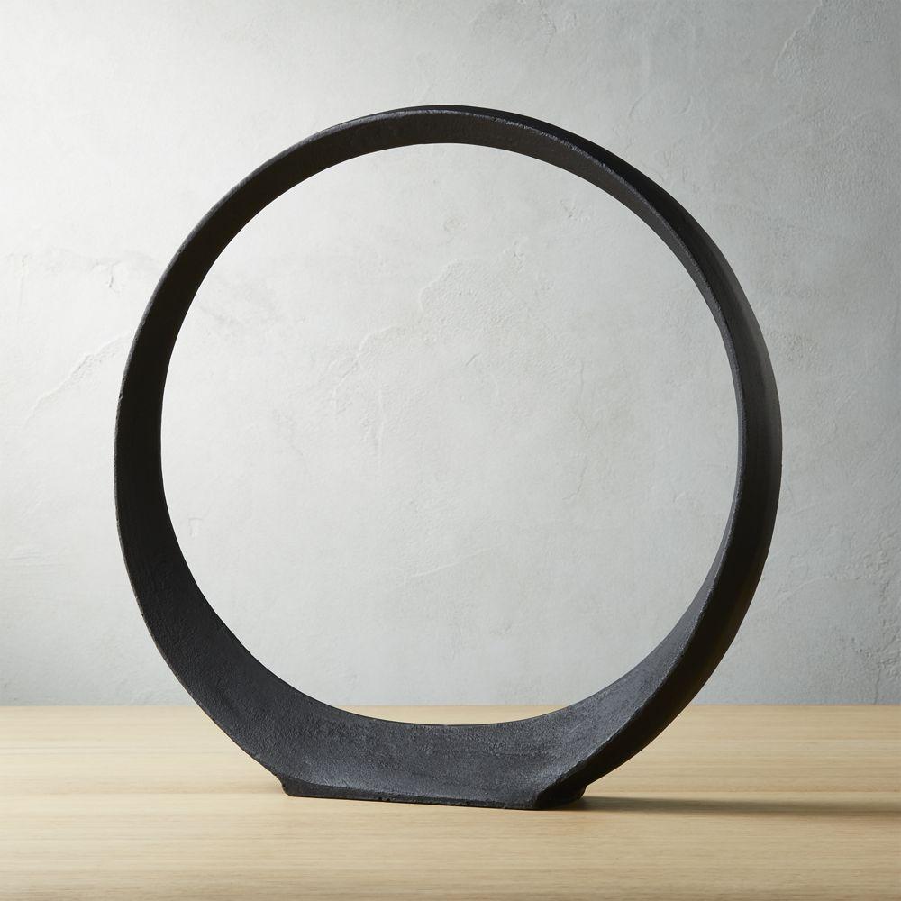 Large Metal Ring Sculpture