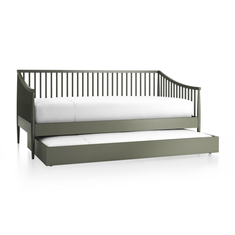 Hampshire Spindle Olive Green Daybed