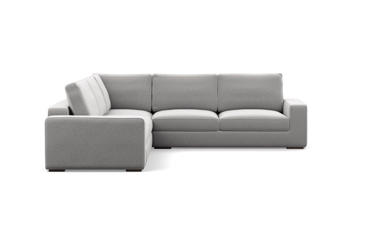 Ainsley Corner Sectional with Ash Fabric and Oiled Walnut legs