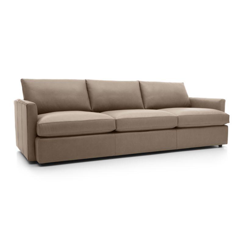 "Lounge II Leather 3-Seat 105"" Grande Sofa-Leather: Lavista-Chestnut"