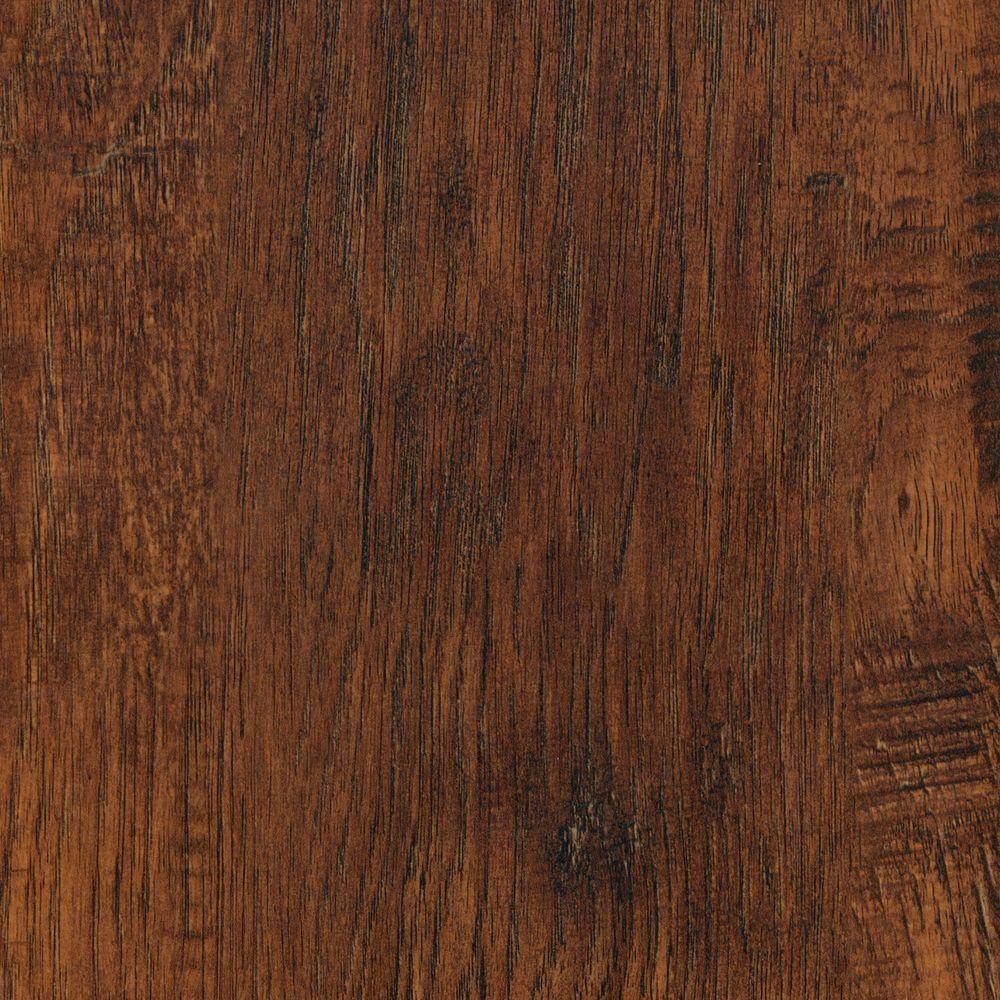 TrafficMASTER Alameda Hickory Laminate Flooring - 5 in. x 7 in. Take Home Sample, Brown/Embossed