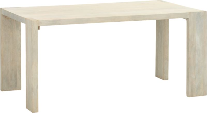 """Blox White Wash Dining Table 35""""x63"""""""