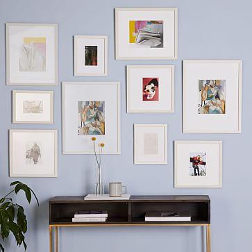 Gallery Frames, White, Set of 10
