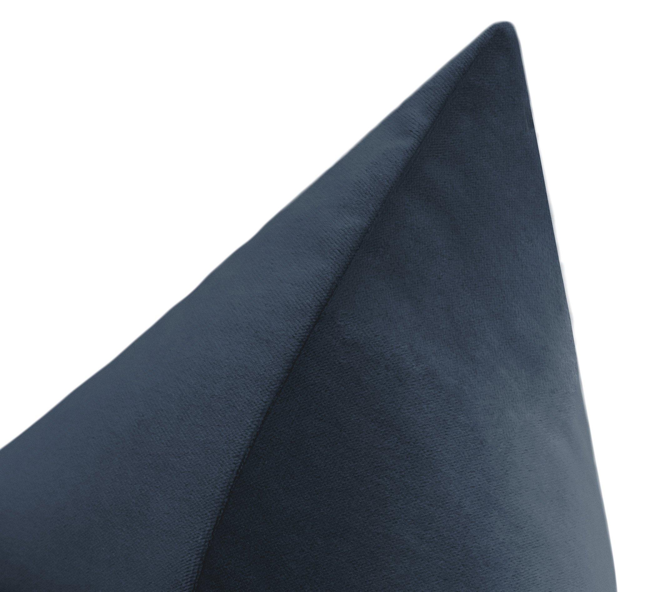 """Society Velvet // Prussian Blue - 22"""" X 22"""""""