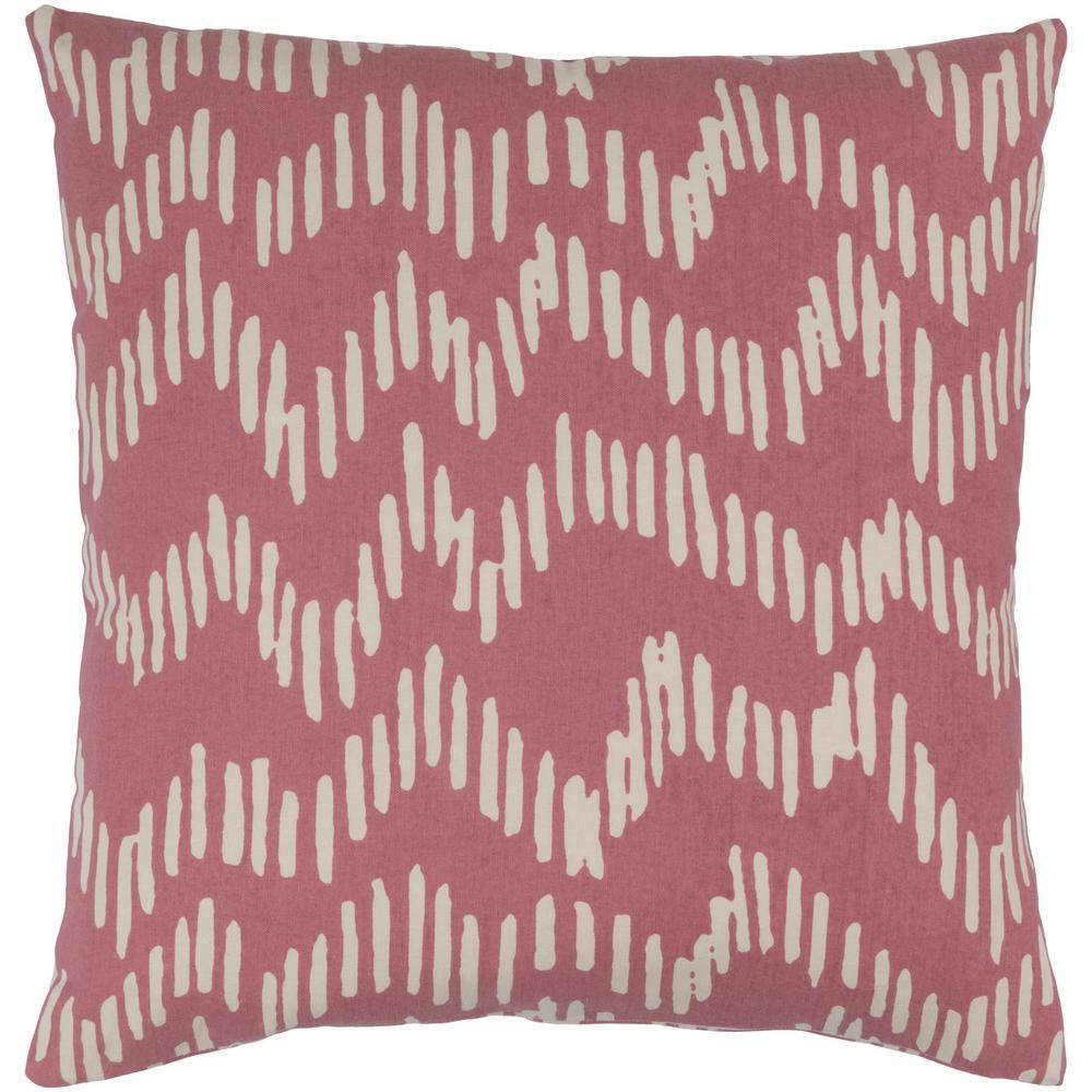 Calverley Poly Euro Pillow, Pink
