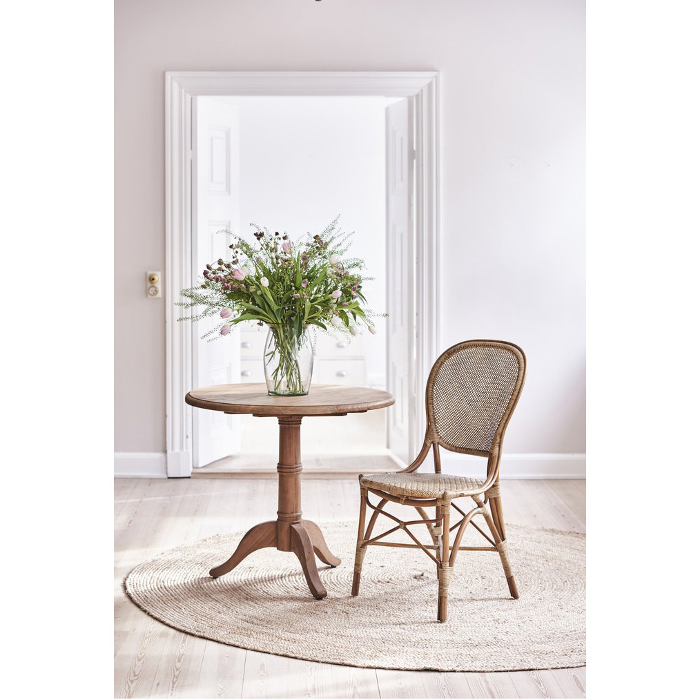 Lydia French Country Brown Rattan Dining Chair (Set of 2)