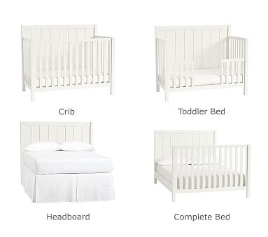 Camp 4-in-1 Crib Toddler Bed Conversion Kit, White Oak, Flat Rate