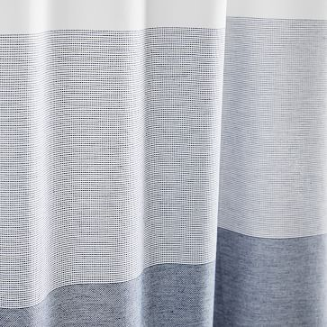 Organic Dobby Ombre Shower Curtain, Indigo