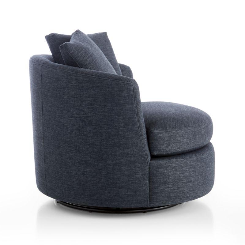 Tillie Swivel Chair-Darius, Navy