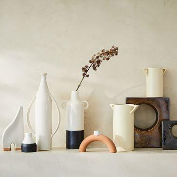 Ceramic Cube Objects, Black, Small