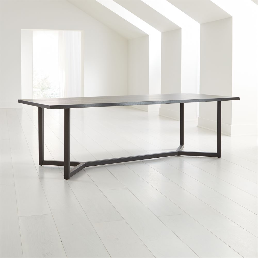 """Verge 100"""" Black Live Edge Dining Table ( Estimated in mid December.)"""
