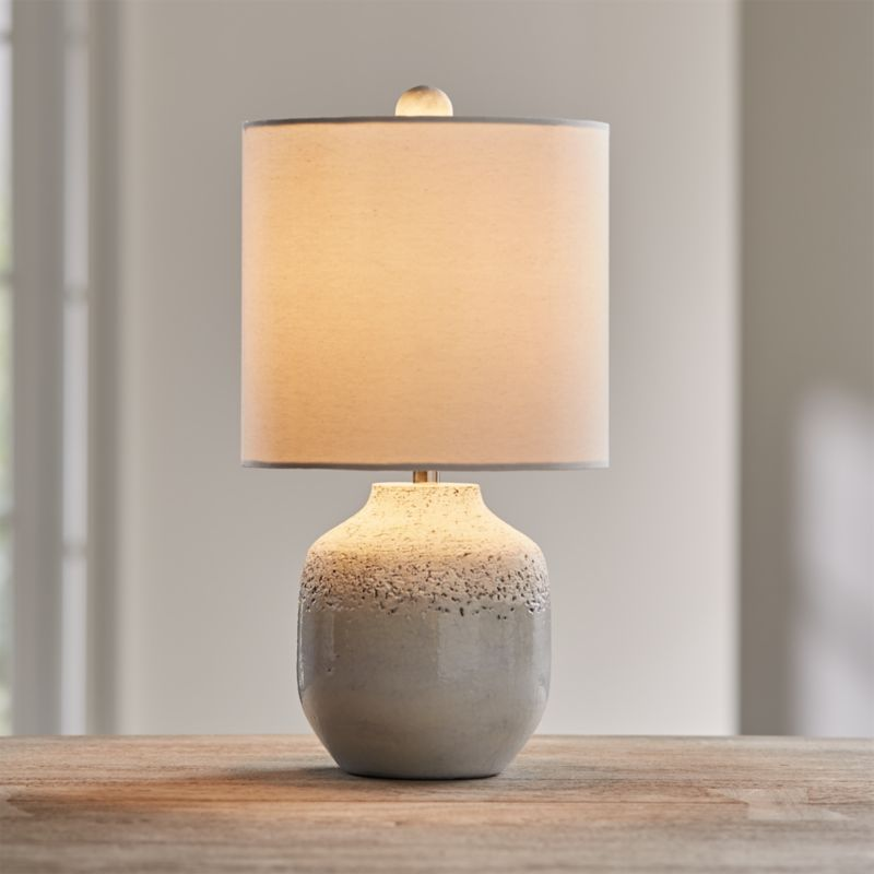 Quinn Grey and White Table Lamp-Backordered till Est:June