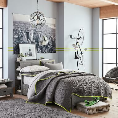Findley Storage Bed, Queen, Smoked Charcoal