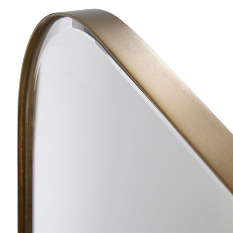 Edge Brass Arch Floor Mirror