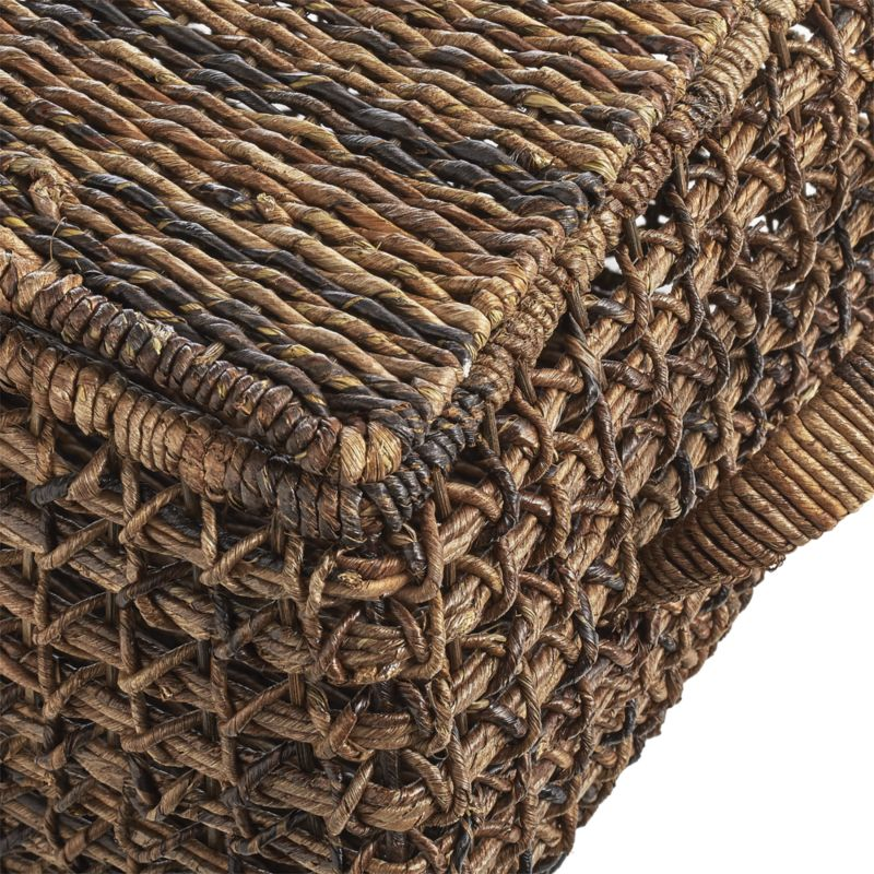 Zuzu Large Rectangular Handwoven Basket with Lid
