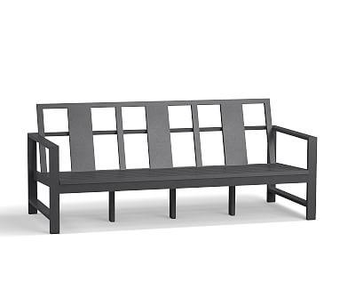 Indio Metal Sofa Frame, Weathered Slate