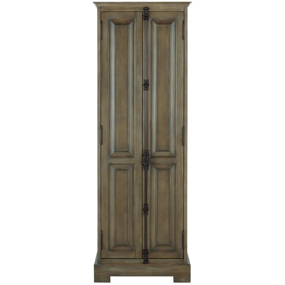 Home Decorators Collection Clinton 24 in. W Linen Cabinet in Almond Latte