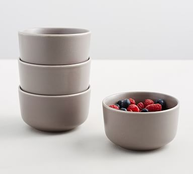 Mason Berry Bowl, Set of 4 - Graphite Gray