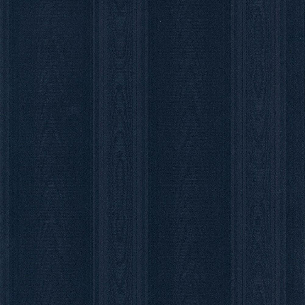 Medium Moir Stripe Wallpaper, Blue