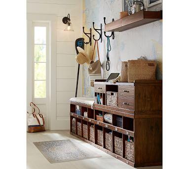 Rustic Wood Shelf, 3', Mahogany stain