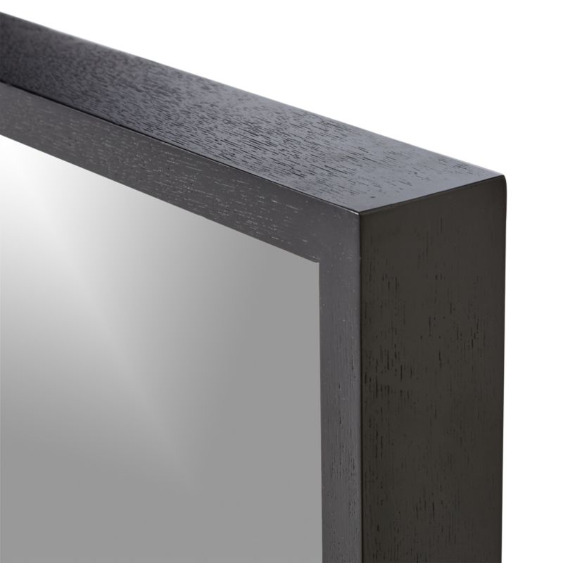 Liam Black Frame Floor Mirror with Brass Inlay