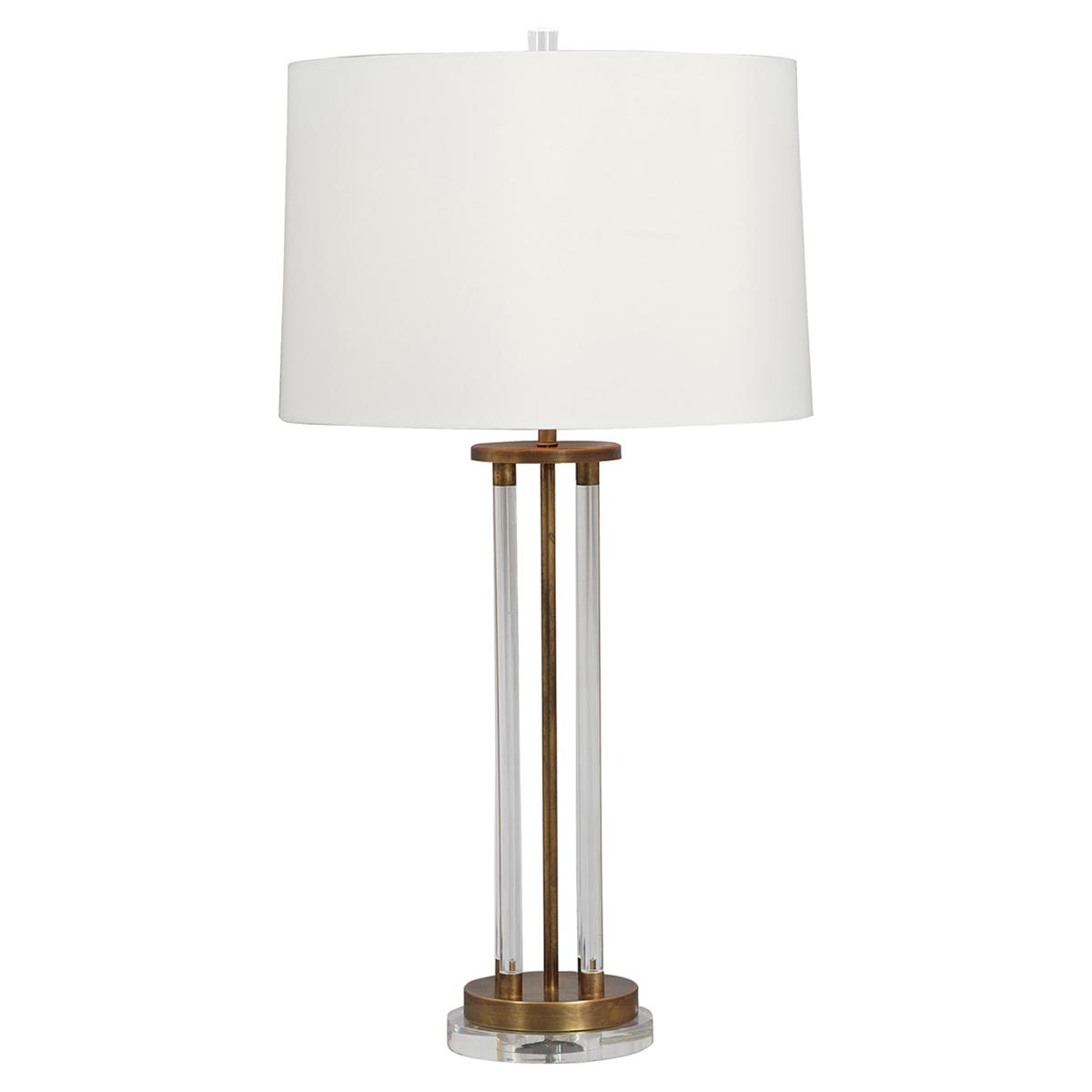 Renee Modern Lucite Column GoldBrass Table Lamp