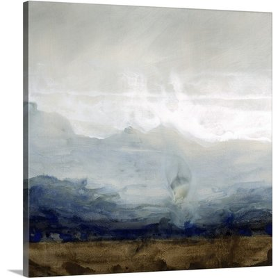 'Hazy Blue Horizon' by Kari Taylor Painting Print on Canvas
