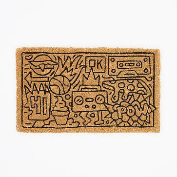 "Tim Goodman Boombox Doormat, Natural, 18""x30"""