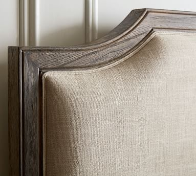 Brookdale Bed, King, Weathered Chestnut/Fog Linen