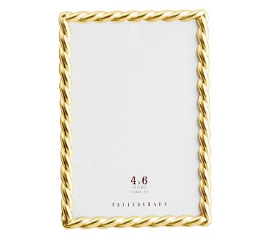 """Rope Plated Frame, Gold - 4 x 6"""""""