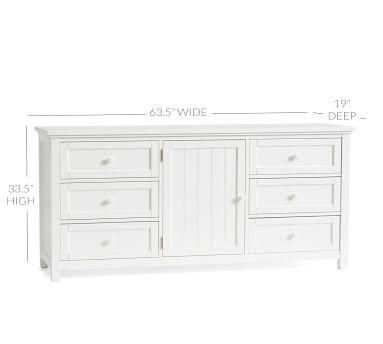 Beadboard Extra Wide Dresser, Simply White