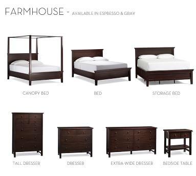 Farmhouse Bed, King, Gray Wash