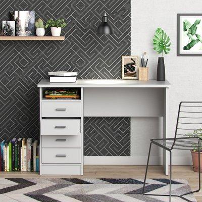Zemple Desk With 4 Drawer Wayfair