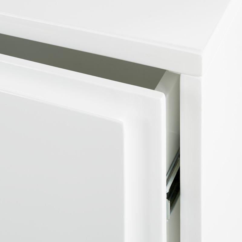Gallery White 4-Drawer Low Dresser