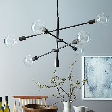 """Mobile Chandelier, 29"""", Two-Tone"""