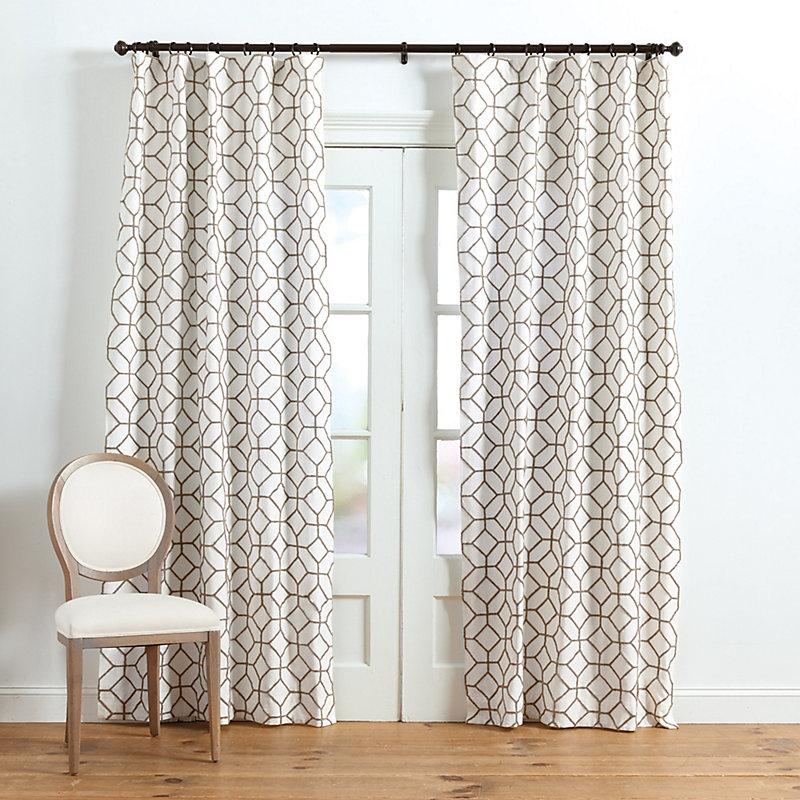"""Ballard Designs Inman Textured Trellis Panel Cornflower 96"""""""