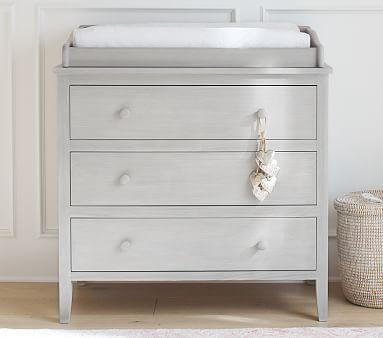 Emerson Nursery Dresser & Topper Set, Simply White