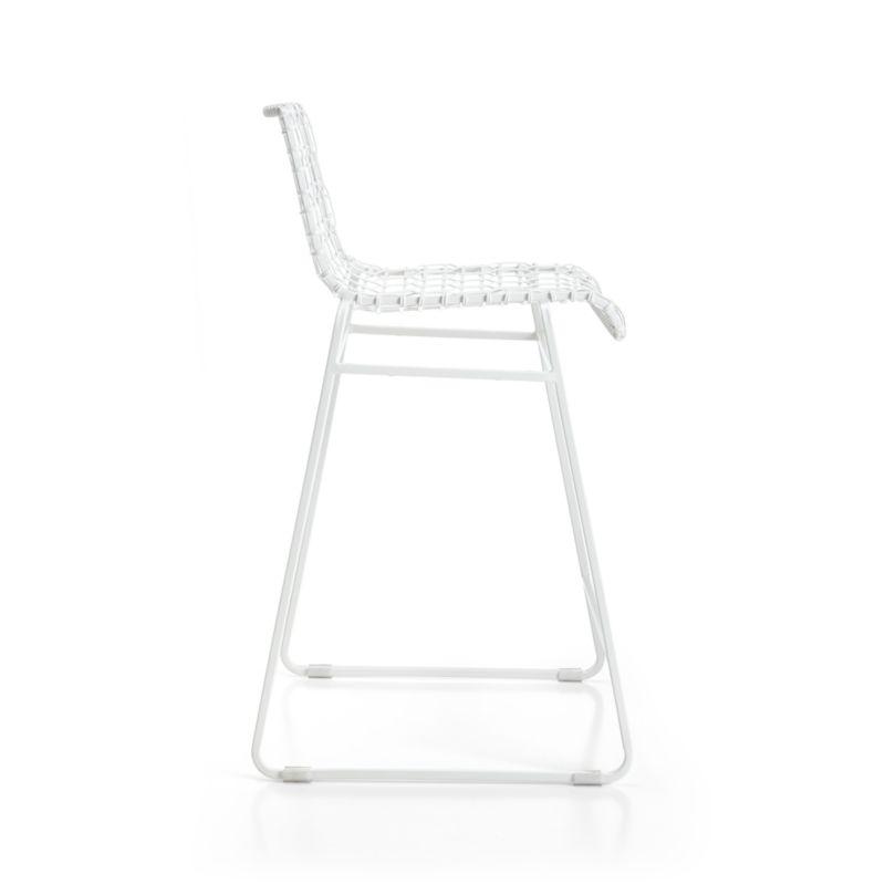 Tig Indoor/Outdoor White Metal Bar Stool