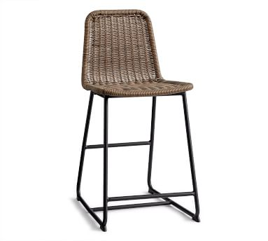 Plymouth Counter Height Barstool, Woven/Metal