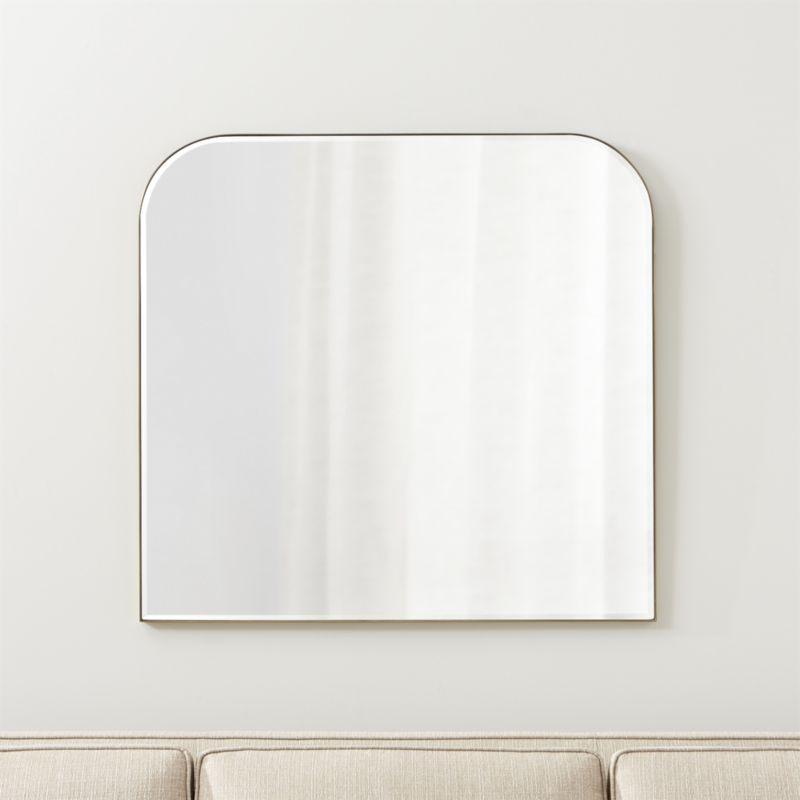 Edge Brass Arch Wall Mirror