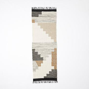 Colca Wool Rug, Flax, 2.5'x7'
