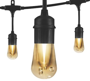 Indoor/Outdoor LED String Lights - Black, 12 Feet