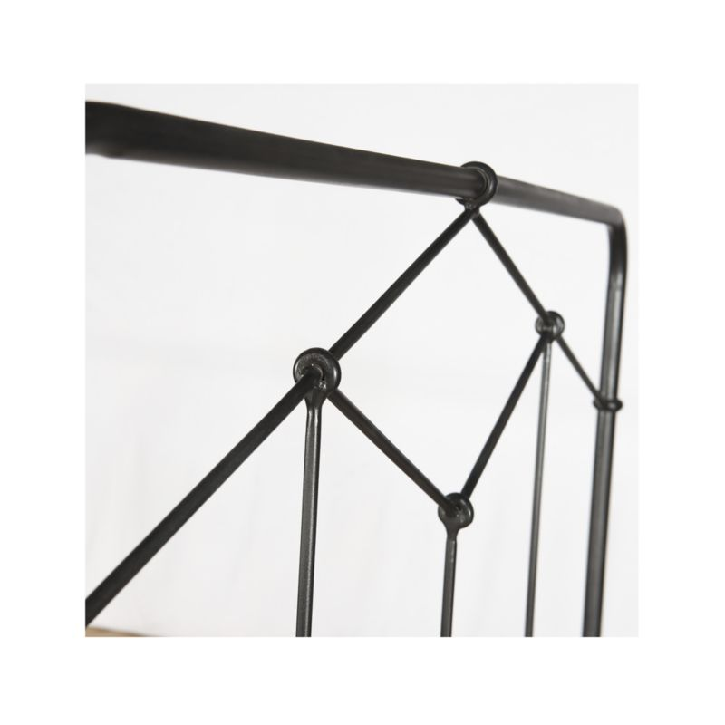 Casey King Black Iron Bed