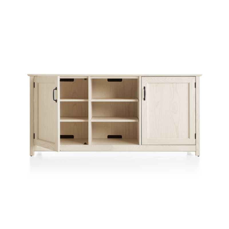 """Ainsworth Cream 64"""" Media Console with Glass/Wood Doors"""
