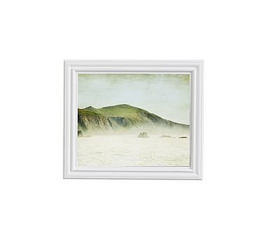 """Green and Mist Framed Print by Lupen Grainne, 13 x 11"""", Ridged Distressed Frame, White, No Mat"""